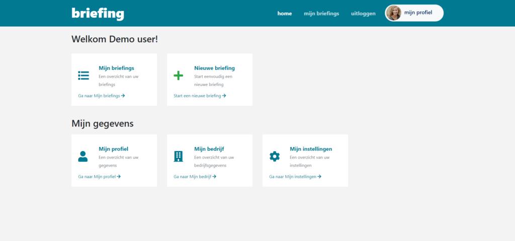 Dashboard online briefingtool